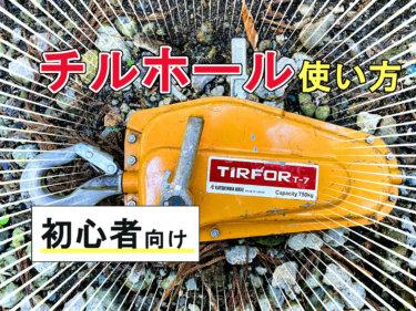 【チルホールの使い方】伐採での使い方をプロが徹底解説【画像あり】